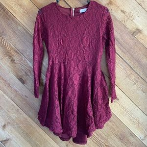 Altar'd State Maroon High-Low Dress